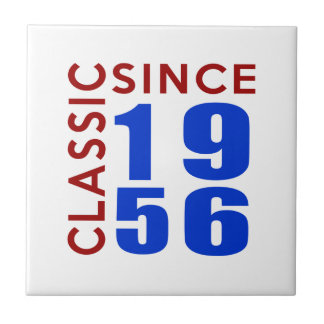 Classic Since 1956 Birthday Designs Small Square Tile