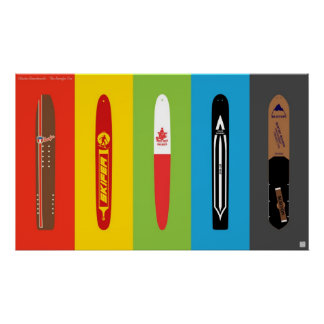 Classic Snowboards - The Snurfer Era Poster