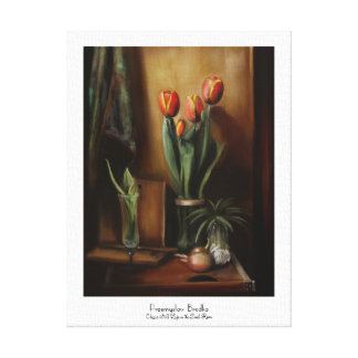 Classic Still Life in the Dark Room paint fine art Gallery Wrap Canvas