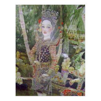 classic Thai antique style portrait print postcard