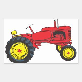 Classic Tractor Rectangular Sticker