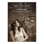 Classic Type Wedding Photo Save the Date