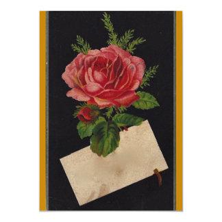 Classic Victorian Tea Rose 13 Cm X 18 Cm Invitation Card