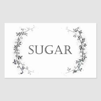 Classic Vine Design Sugar Jar Labels Stickers