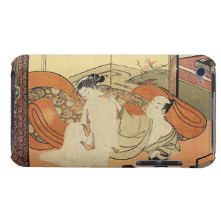 Classic vintage japanese ukiyo-e oiran art barely there iPod cases