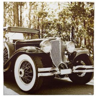 Classic Vintage Sepia Car Cloth Napkins