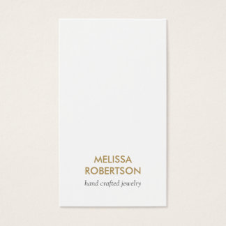 Classic White Jewelry Design Business Card