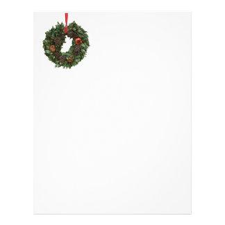 Classic wreath Christmas Letter Customised Letterhead