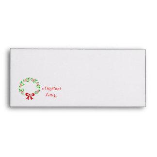Classic wreath Christmas Letter Envelope