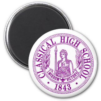 Classical High School round magnet
