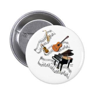 Classical Music Art 6 Cm Round Badge