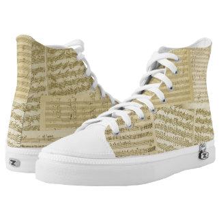 Classical Music Original Vintage Manuscripts Printed Shoes