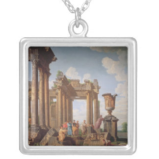 Classical Scene Silver Plated Necklace