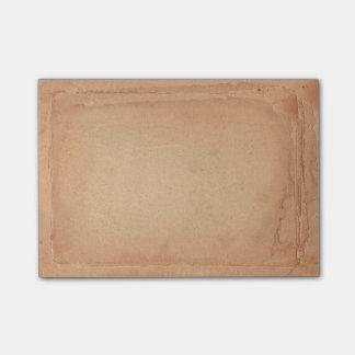 Classical Vintage Old Paper Looking Dark Brown Post-it® Notes