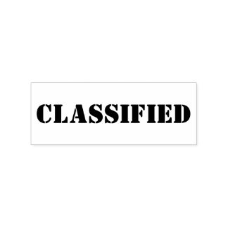 CLASSIFIED RUBBER STAMP