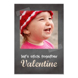 Classroom valentine exchange chalkboard photo pink 9 cm x 13 cm invitation card