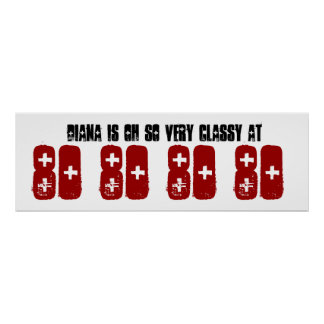 Classy 80th Birthday Party Banner Grunge Z60D Posters