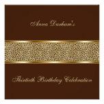 Classy Animal Print Invite [Leopard - Brown]