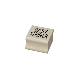 Classy Baby Shower Rubber Stamp