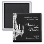 Classy Black and White Save the Date Magnet