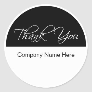 Classy Business Thank You Stickers