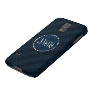Classy Dark Navy Custom Monogram Version 2.0 Galaxy S5 Cases