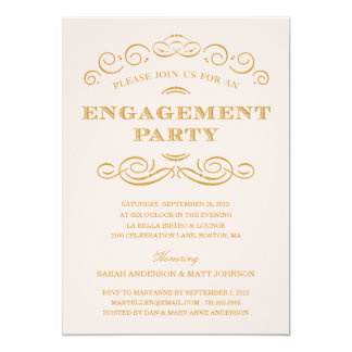 CLASSY ENGAGEMENT | ENGAGEMENT PARTY INVITE