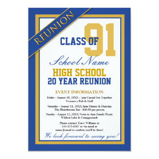 Classy Formal High School Reunion Card