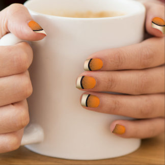 Classy Gold Edge Dark Orange Minx ® Nail Wraps