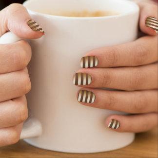 Classy Gold Foil Stripes Coffee Minx ® Nail Art