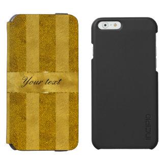 Classy Gold Foil Stripes Incipio Watson™ iPhone 6 Wallet Case
