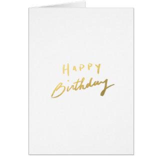 Classy Gold Happy Birthday Card