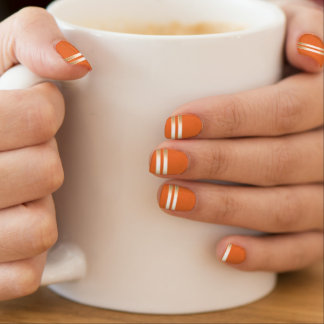 Classy Gold Stripes Halloween Orange Minx ® Nail Wraps