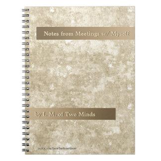 Classy Khaki+Cream Faux Stone (Personalized) - SN Spiral Note Books