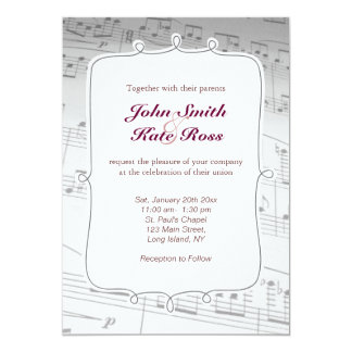 musical notes invitation templates 3 000 musical notes invitations. Black Bedroom Furniture Sets. Home Design Ideas