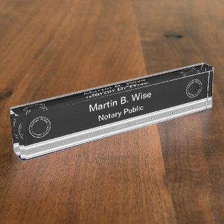 Classy Notary Executive Desk Name Plates
