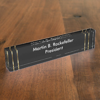Classy Office Executive Gift Nameplate
