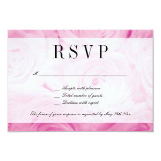 Classy pink rose flower RSVP wedding response card 9 Cm X 13 Cm Invitation Card