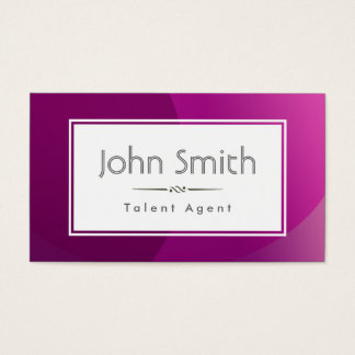 Classy Purple Talent Agent Business Card