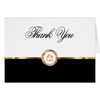 Classy Real Estate Thank You Notecards Note Card