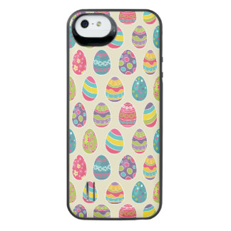 Classy Retro Easter Eggs Happy Easter Day iPhone SE/5/5s Battery Case