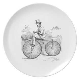 Classy retro old bike party plates