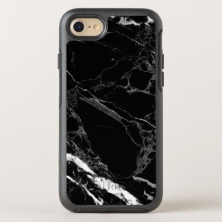 Classy Stone Black Marble Texture OtterBox Symmetry iPhone 8/7 Case