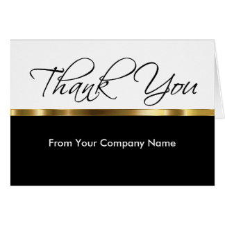 Classy Thank You Cards For Business