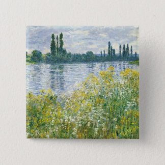 Claude Monet | Banks of the Seine, Vetheuil, 1880 15 Cm Square Badge