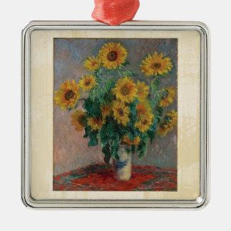 Claude Monet: Bouquet of Sunflower Vintage Art Christmas Ornament