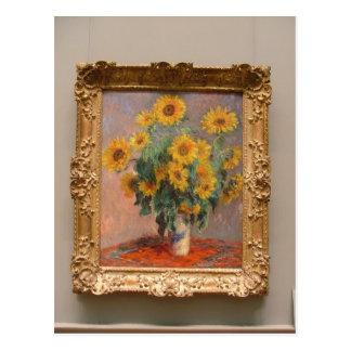 Claude Monet Bouquet of Sunflowers 1908 Technique Post Card