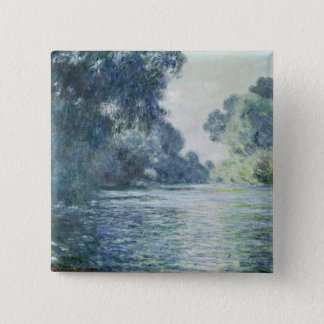 Claude Monet | Branch of the Seine near Giverny 15 Cm Square Badge