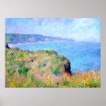 Claude Monet: Cliff Near Pourville Posters