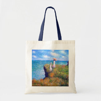 Claude Monet: Cliff Walk at Pourville Tote Bag